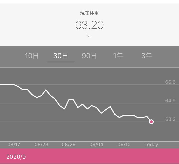 工務店集客ドッコム |体重の減少グラフ