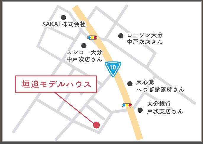 SAKAIプレス見学会会場地図